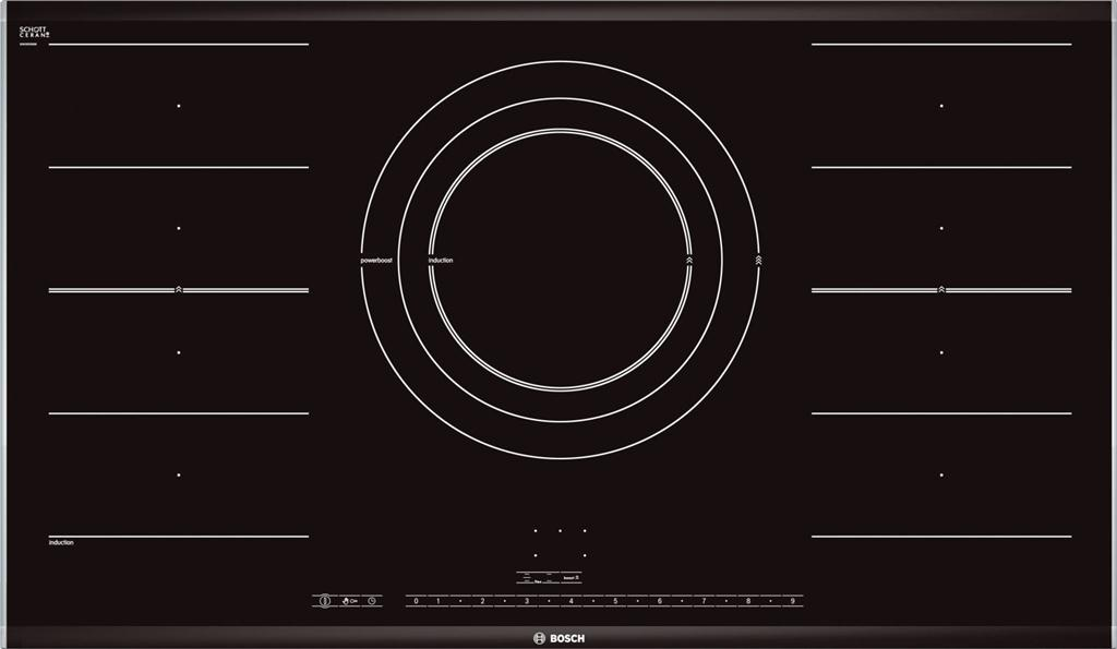 Bếp Từ Bosch PIZ975N17E, bếp từ 5 bếp nấu Bosch chính hãng