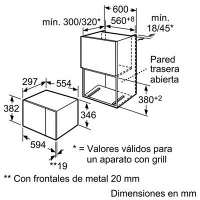 kích thước Lò Vi Sóng Bosch HMT72M654