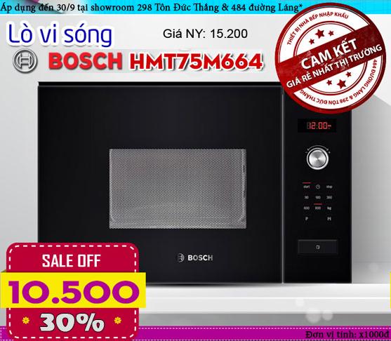 Lò vi sóng Bosch HMT75M664, giá lò vi sóng âm tủ bosch