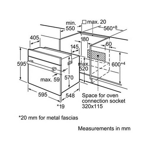 Lò nướng Bosch HBN331E1K tiết kiệm điện