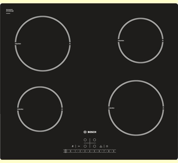 Bếp từ cao cấp Bosch PIA611F18E, giá bếp từ 4 bếp nấu bosch