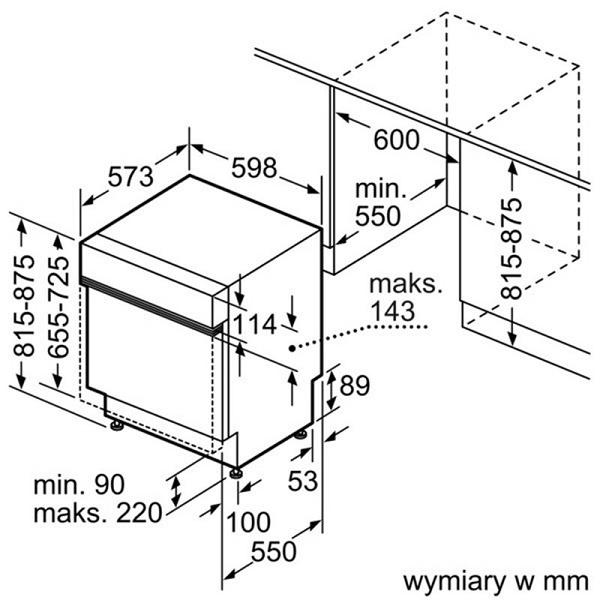 Thông số kĩ thuật lắp đặt máy rửa bát Bosch SMV69M91EU