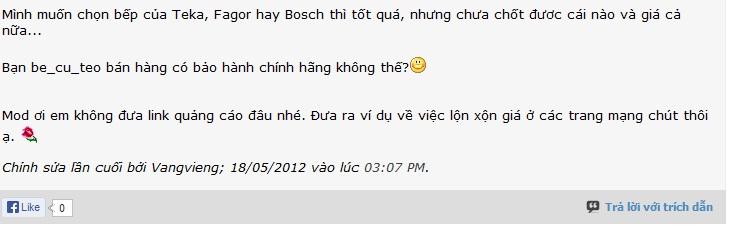 bep tu, bep tu Bosch