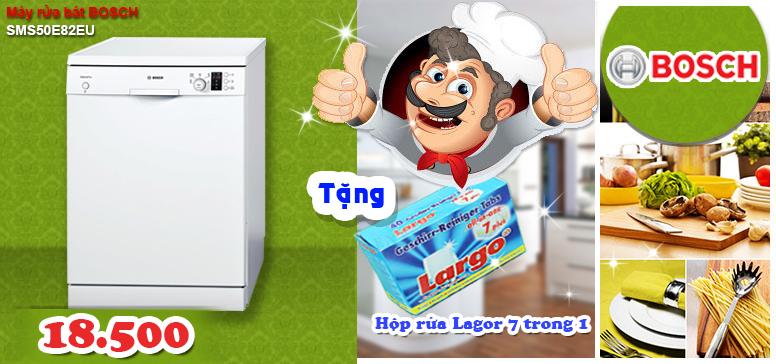 Khuyến mại máy rửa bát bosch SMS50E82EU