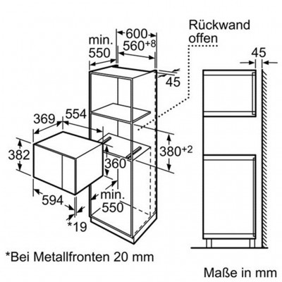 Kích Thước Lò Vi Sóng Bosch HMT84G654