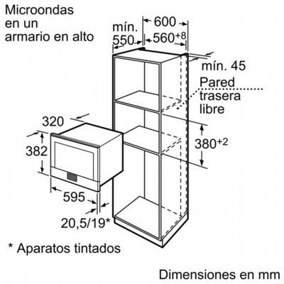 kích thước Lò Vi Sóng Bosch HMT85ML53
