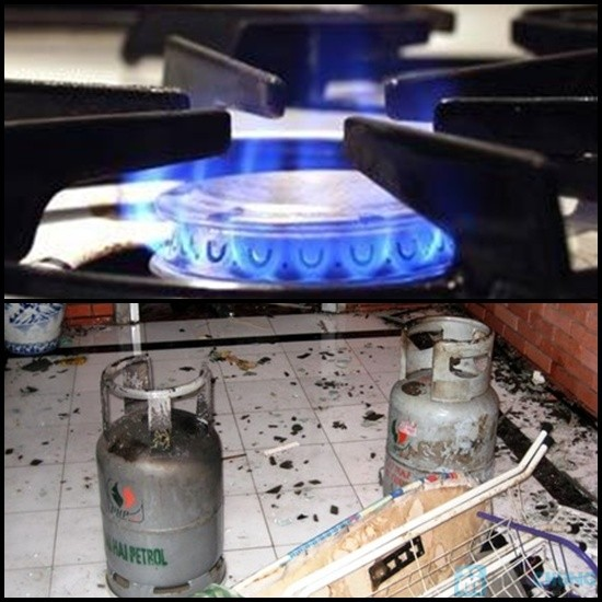 Rò rỉ gas gây cháy nổ sẽ dẫn đến hậu quả rất nghiêm trọng