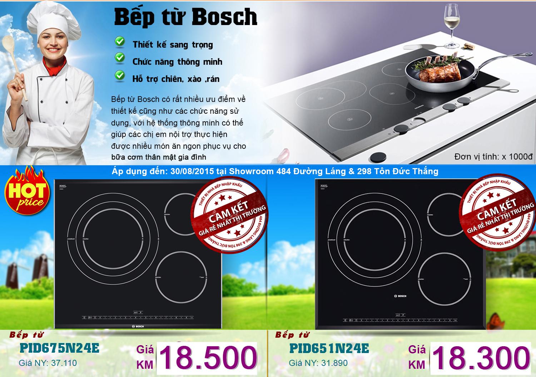 Bếp từ Bosch PID675N24E và PID651N24E giá rẻ nhất thị trường