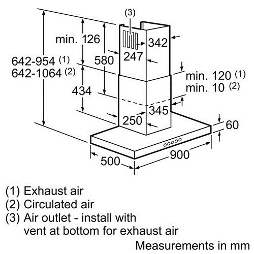 Máy hút mùi Bosch DWB097E50 chất lượng tốt