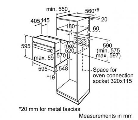 Kích thước Bosch HBN211E2M