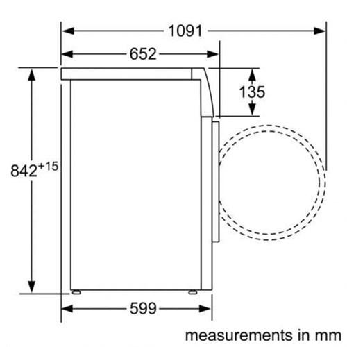 Máy sấy quần áo Bosch WTW85550BY